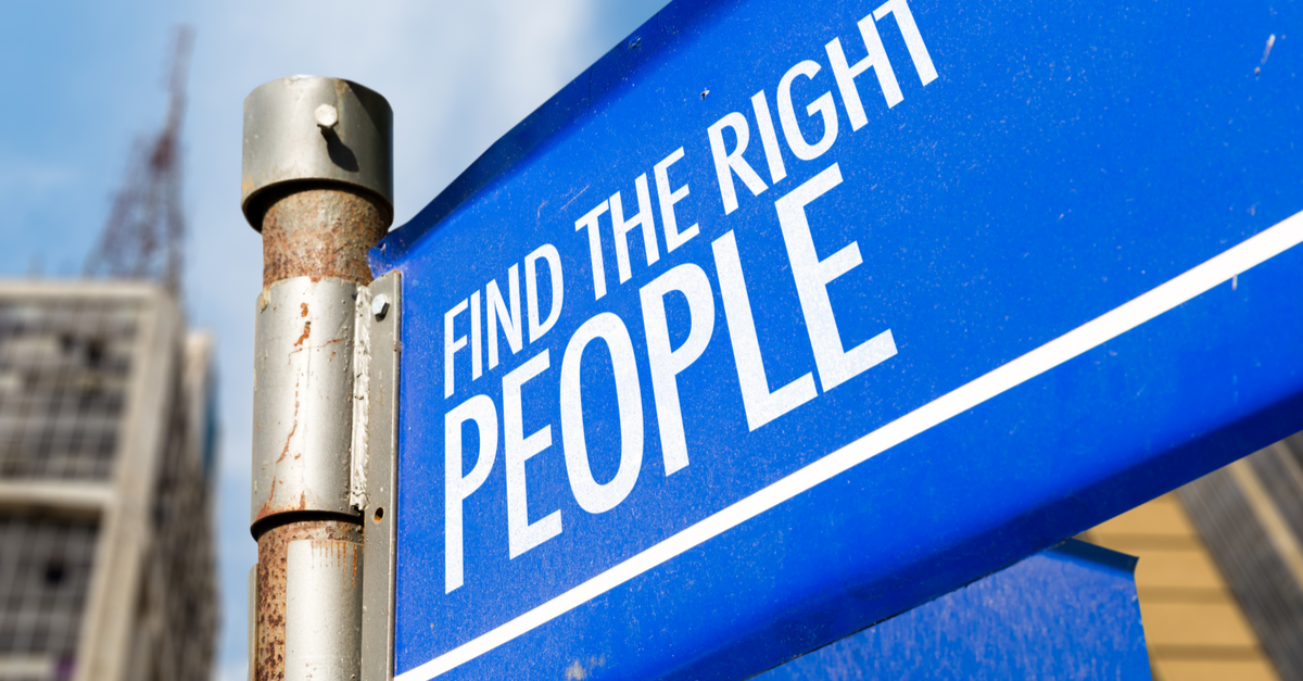 Hire the Right People Sign