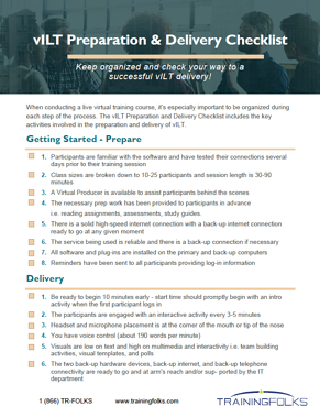 VILT Prep and Delivery Checklist-1