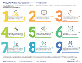 9 ways to update your elearning for todays learner